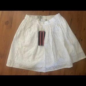 White, new skirt, size 4